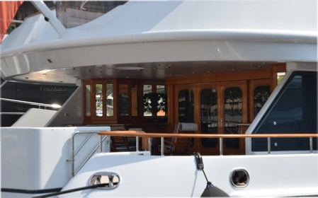 Wood Interior inside the yacht
