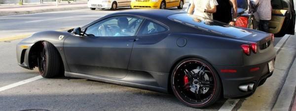 Justin in His Matte-Black Ferrari F430