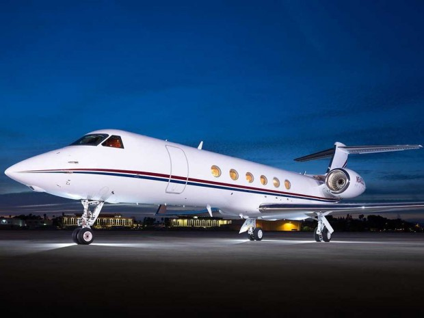 Phil's private jet Gulfstream V