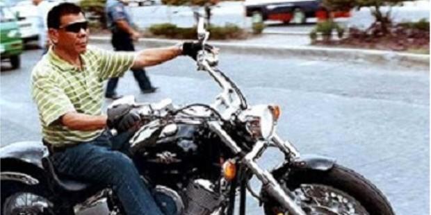 Mayor Rodrigo Riding on His Bike