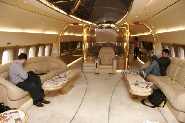 Inside of his Jet
