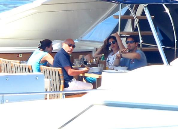 Berlusconi in his yacht