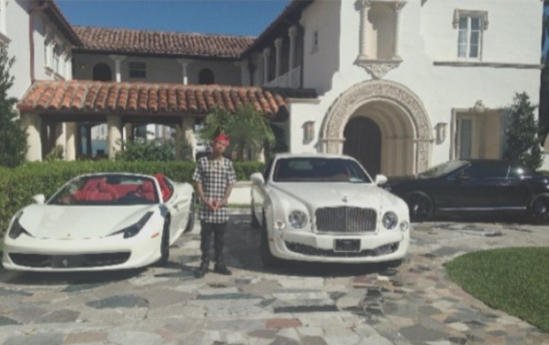 Tyga with his cars