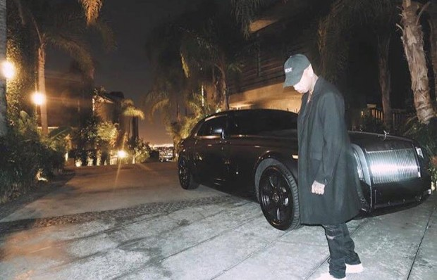 Tyga with His RR Phantom