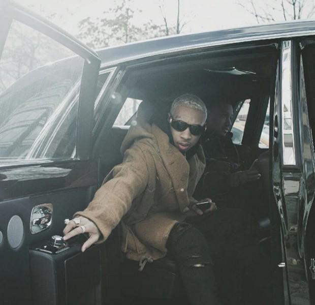 Tyga in His Rolls Royce