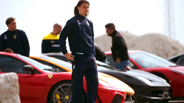 Zlatan and his Ferrari Enzo