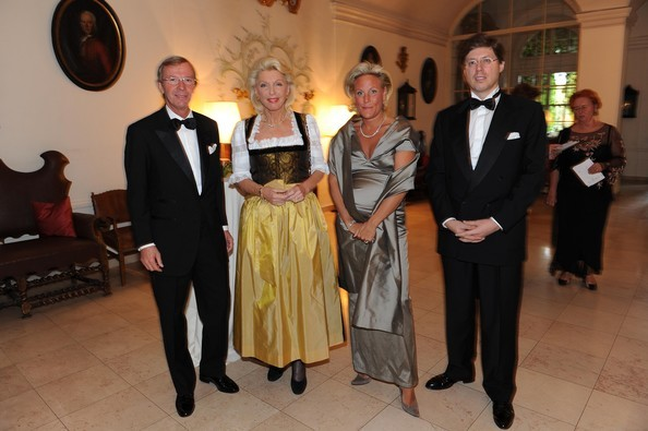 Wilfried Haslauer, Maria Elisabeth Schaeffler, Christina Roesslhuber and Georg Schaeffler attend the ISA (International Salzburg Association) Gala Dinner