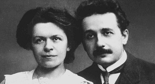 Albert Einstein with his first wife Mileva Mari?