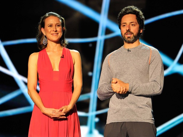 Anne Wojcicki with Her Ex-Husband Sergey Brin