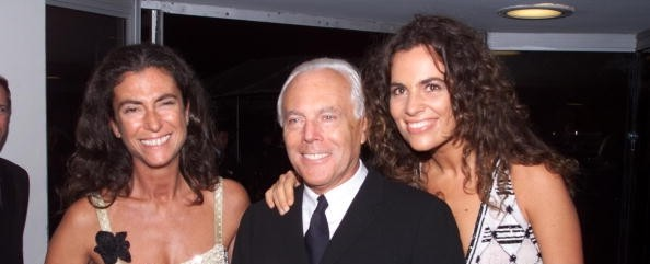 Giorgio Armani with his sister Silvana Armani and niece Roberta Armani 7e3bb4f1005