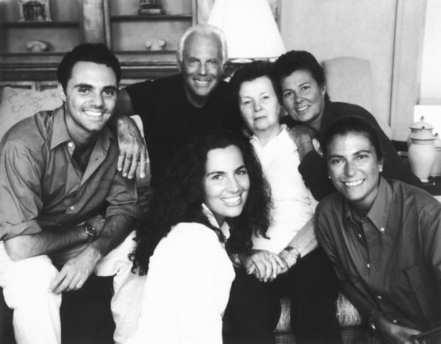 Giorgio Armani with His Family