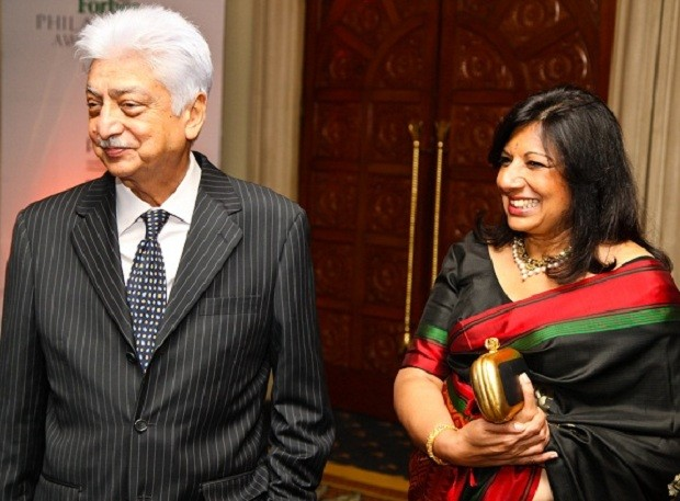 Azim Premji with his wife Yasmeen