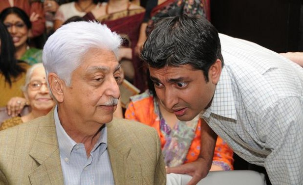 Azim Premji with his son Rishad Premji