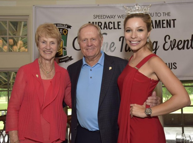 Barbara and Jack Nicklaus with Miss America Kira Kazantsev