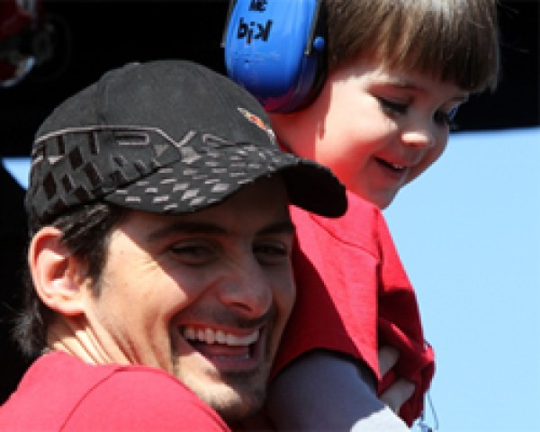Brad Paisley with his Son Huck Paisley
