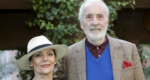 British Actor Christopher Lee and his Wife Birgit