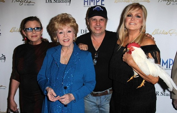 Todd Fisher and his wife Catherine with Carrie Fisher and Debbie Reynolds