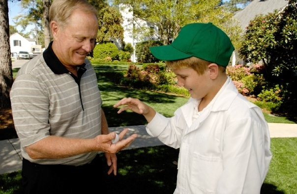 Jack Nicklaus with his Grandson Charlie