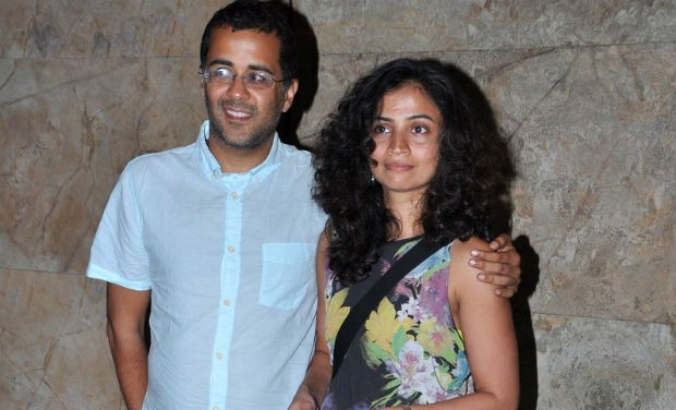 Chetan Bhagat and his Spouse Anusha