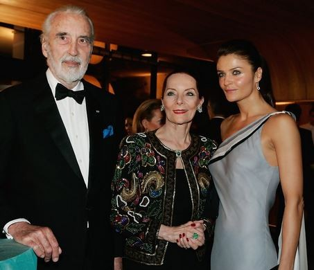 Christopher Lee With his Wife Brigit and Daughter Christina