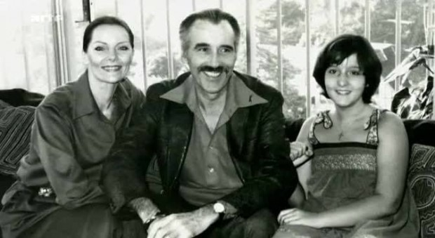Christopher Lee and his Family
