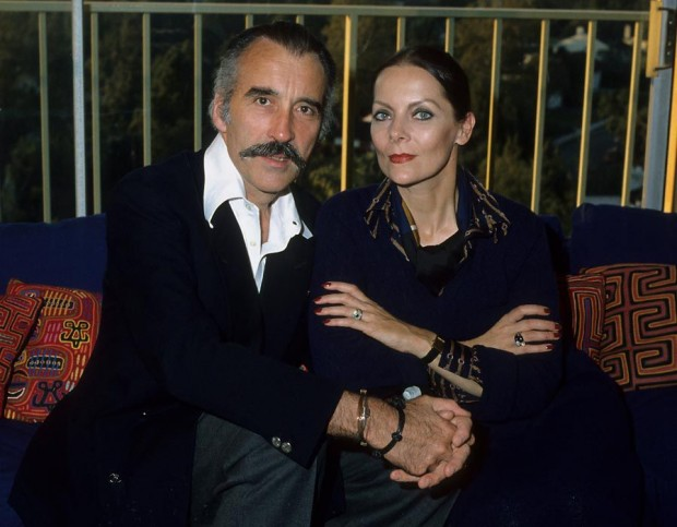Christopher Lee and his Wife Birgit in 1985