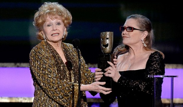 Carrie Fisher presents SAG Lifetime Achievement award to her mother legendary actress and singer Debbie Reynolds