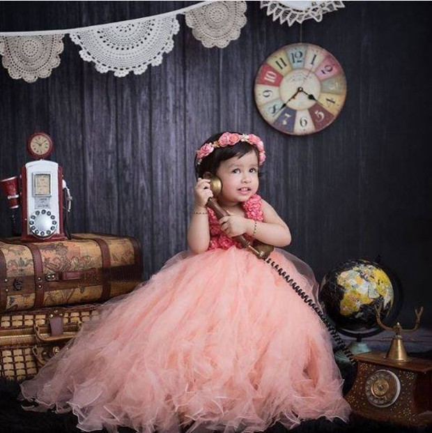 Dhoni's cute daughter Ziva in a phtoshoot
