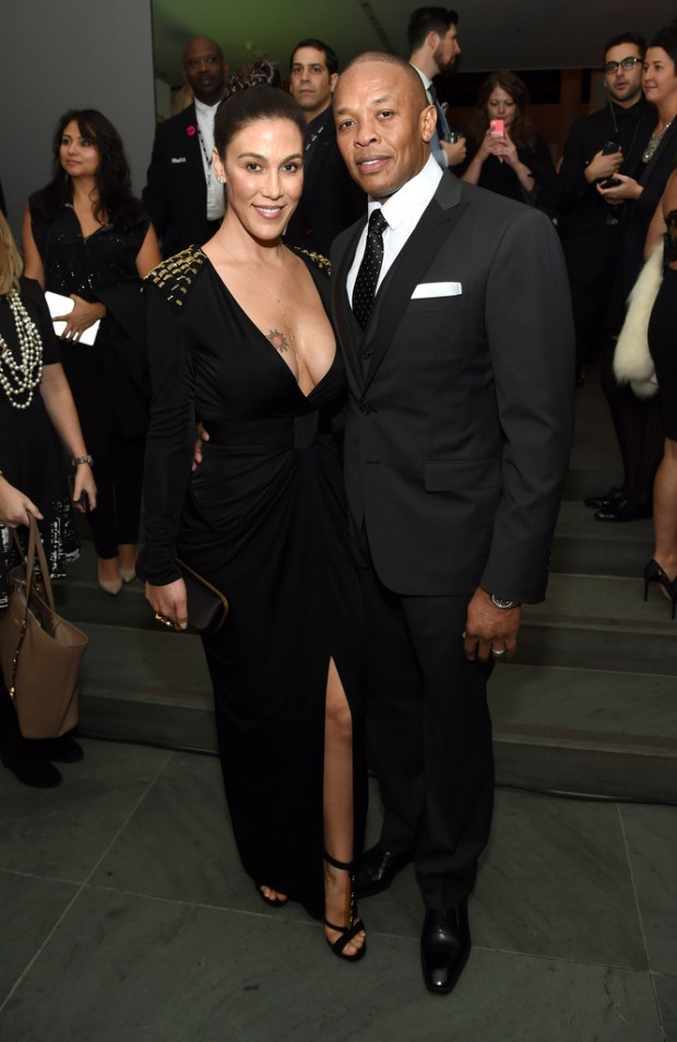 Dr Dre and his Wife Nicole at Wallstreet 2014 Awards