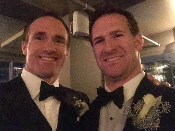 Drew Brees with his brother Reid Brees