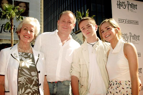Emma Watson and her family at Harry Potter Premier
