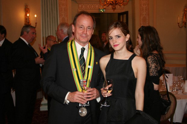 Emma Watson with her dad Chris Watson
