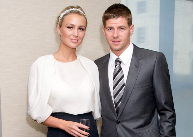 Steven Gerrard and Alex Curran