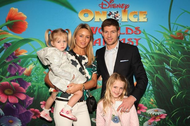 Gerrard couple with their daughters Lourdes and Lilly-Ella