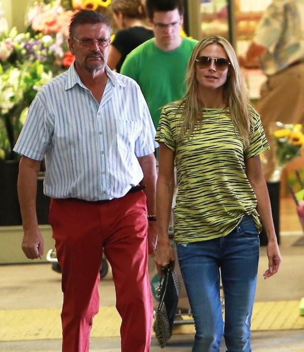 Heidi Klum with her father Gunther Klum