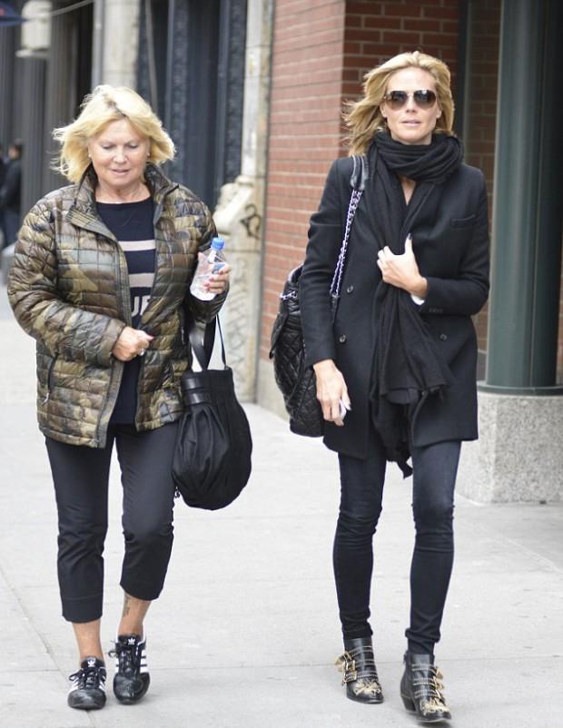 Heidi Klum with his mother Erna Klum