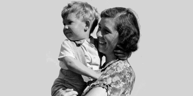 Little Ian with his mother Margery Lois McKellen