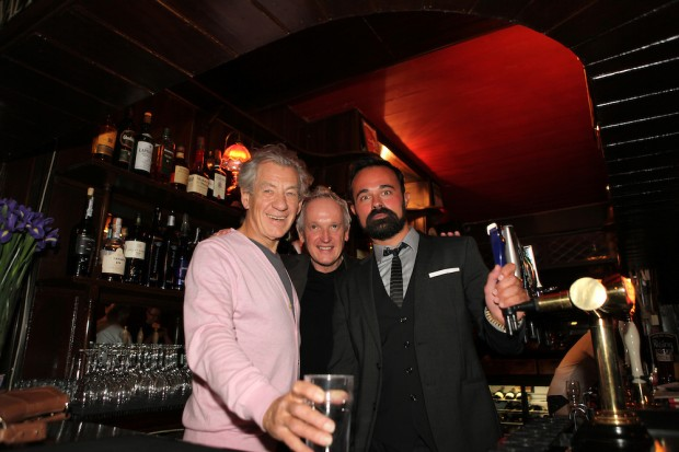 Evgeny Lebedev with Ian and Sean