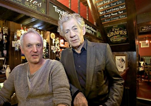 Ian McKellen with his Partner Ian Mckellen with Sean Mathias