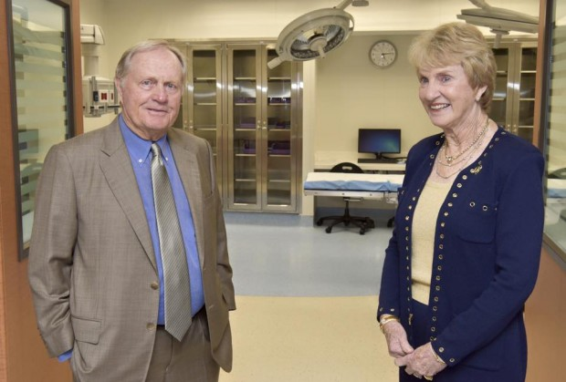 Jack Nicklaus and his wife Barbara Nicklaus