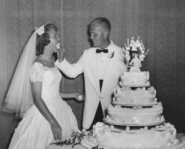 Jack and Barbara on their wedding
