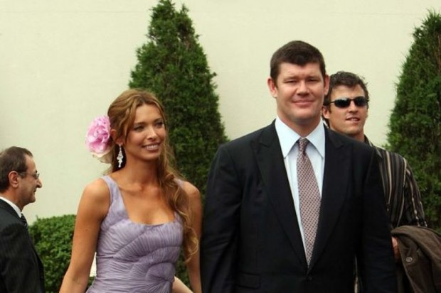 James Packer with Wife