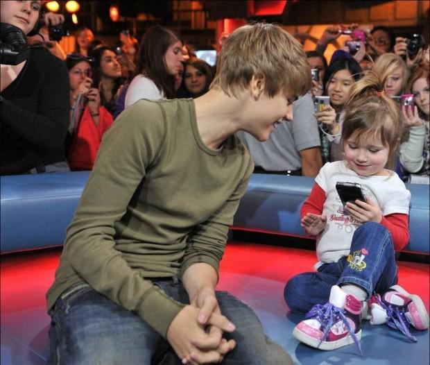 Justin Bieber with His Sister Jazmyn Bieber