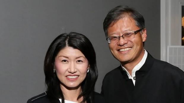 Jerry Yang with His Wife Akiko Yamazaki