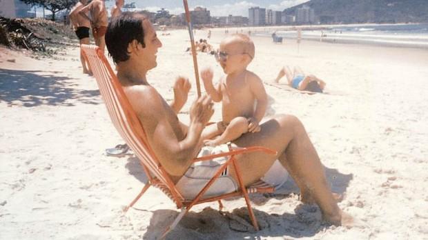 Baby Kaka and his dad Bosco Izecson Pereira Leite