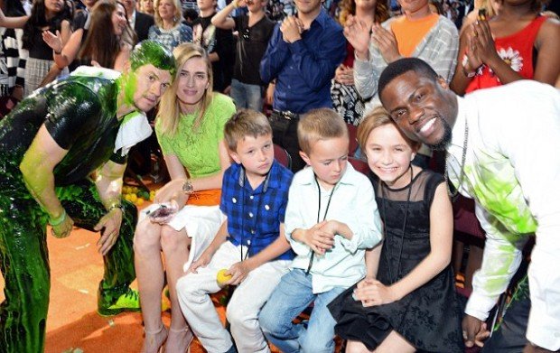 Kevin Hart with Mark Wahlberg and Family