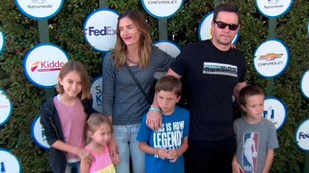 Mark Wahlberg with His Family at Kids Safe Day Event