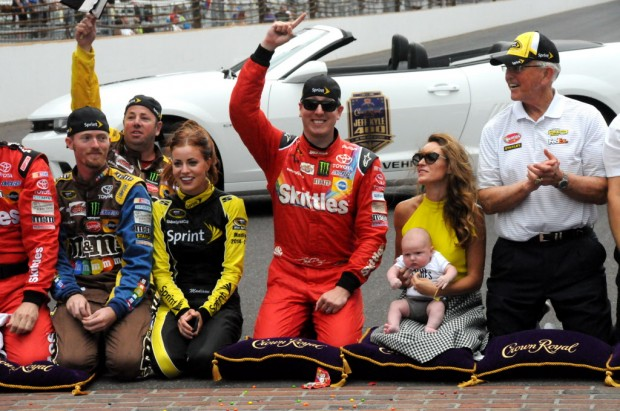 Kyle Busch with His Son Brexton and Wife Samantha