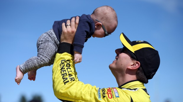 Kyle Busch Playing With His Son