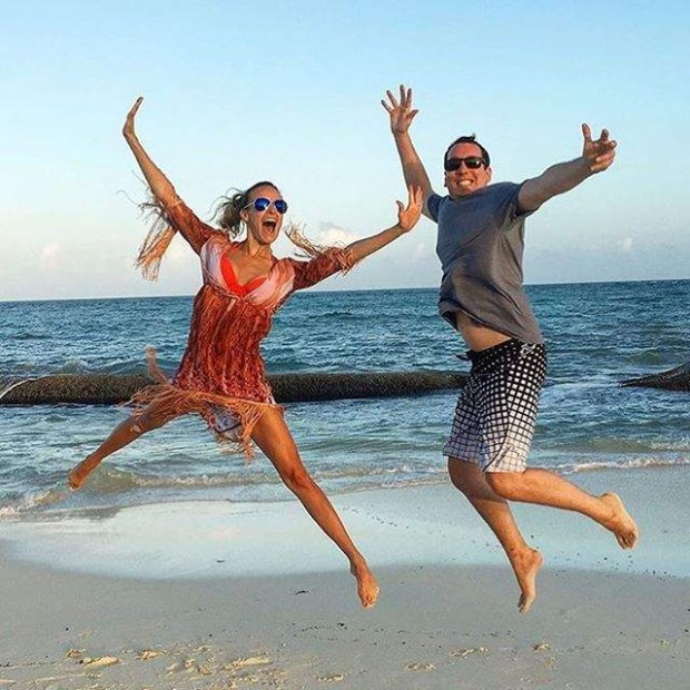 Kyle Busch and Samantha Busch